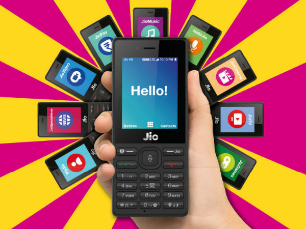 Full specs of JioPhone listed on official website