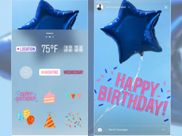 Instagram stories turns one launches celebration sticker pack