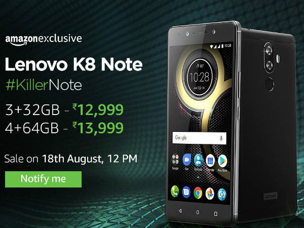 Lenovo K8 Note vs Other smartphones