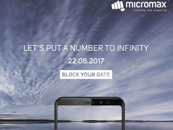 Micromax Canvas Infinity series smartphones to be launched on August 22