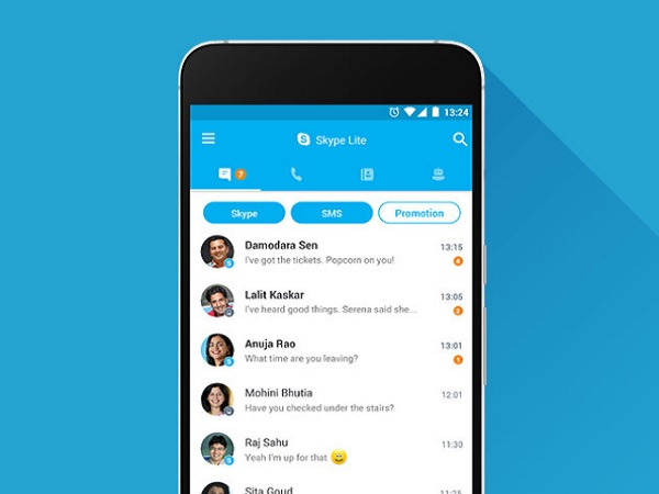 Skype Lite now allows users to send messages through SMS