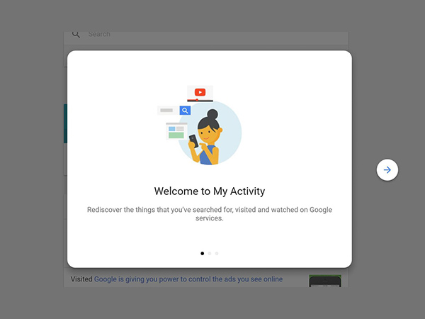 What all can you do with My Activity settings on Google
