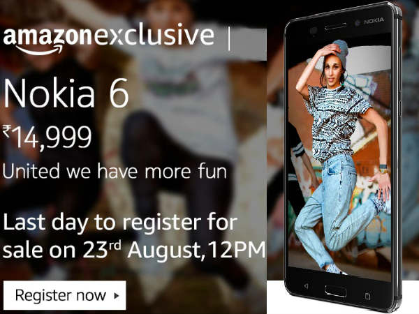 Nokia 6 sale starts from 23rd August: Huge threat to mid-range smartphones