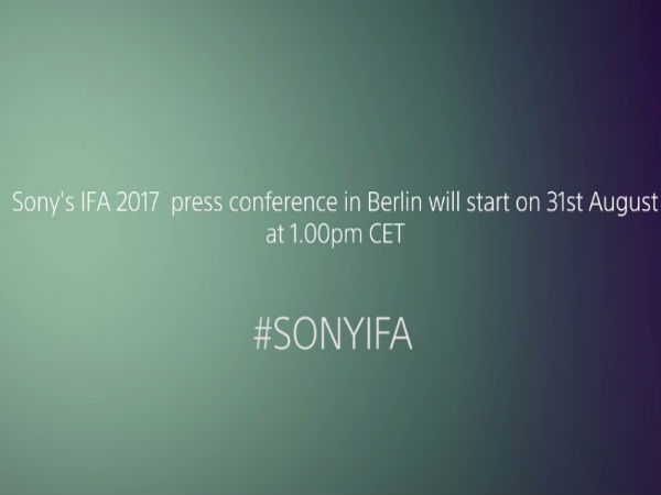Sony to unveil Xperia XZ1 and more at IFA 2017: Watch the live stream