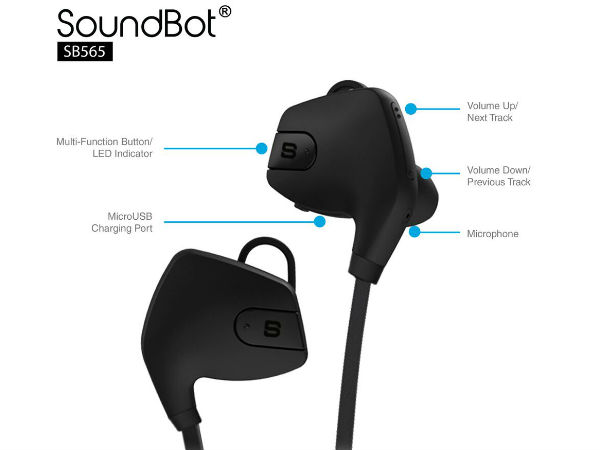 SoundBot launches SB565 Wireless Bluetooth Earphones for Rs.1990
