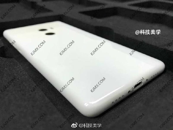 Xiaomi Mi Mix 2 leaks again, alleged image shows rear panel