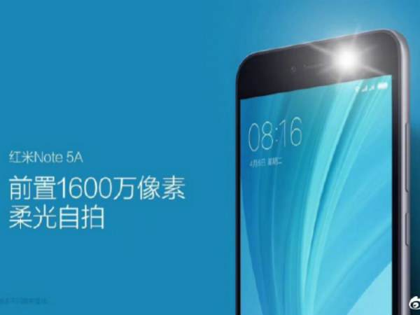 Xiaomi To Launch Redmi Note 5A In China Today