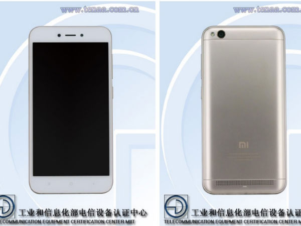 Alleged Xiaomi Redmi 5A appears on TENAA with Android Nougat, 32GB ROM