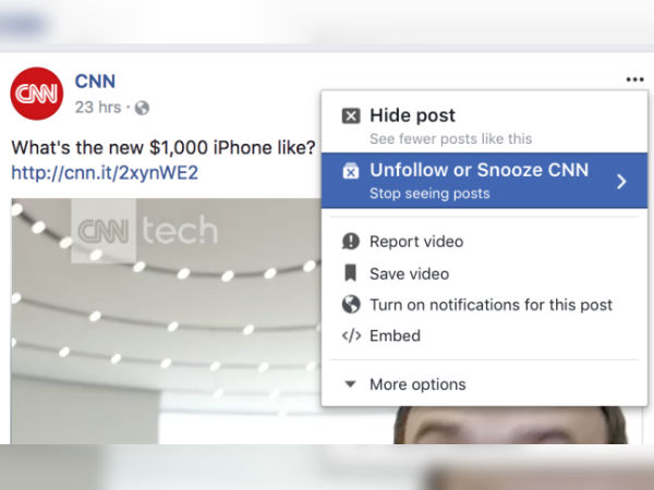 "Facebook is reportedly testing a new ""Snooze"" feature"