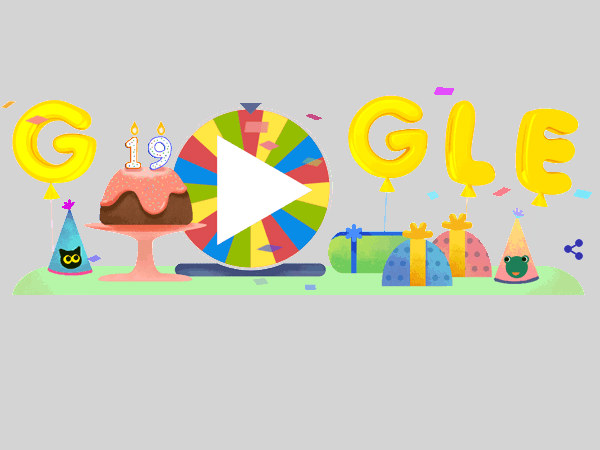 Today's Google Doodle commemorates Google's 19th year of existence