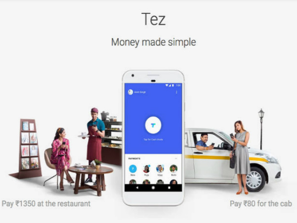 Google Tez digital payment app with UPI integration launched in India