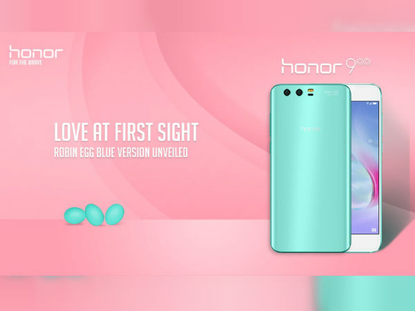 Honor 9 in Robin-Egg Blue color now available outside China
