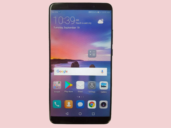 Huawei Mate 10 render appears again; no full-screen design