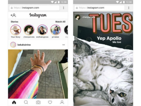 Instagram Stories rolled out for mobile web