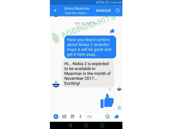 Nokia 2 launch set for November, hints official Facebook account