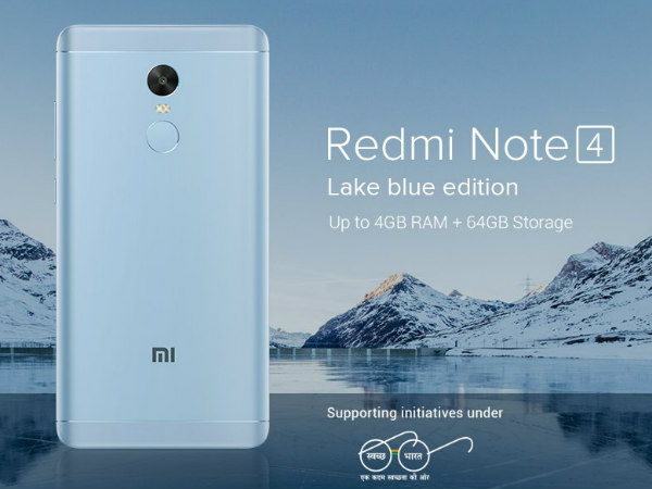 Xiaomi Redmi Note 4 gets a new paint job: Lake Blue edition launched