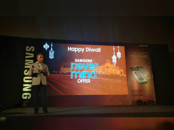 "Samsung launches ""Never Mind"" offer: Pay only Rs. 999 to get a screen-replacement of your phone"