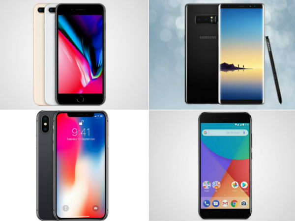 Top Trending phones of last week: iPhone X, Note 8, Mi A1 and more