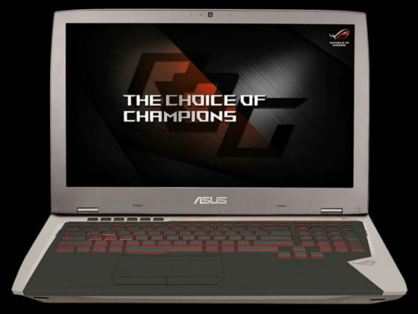Asus ROG G701 gaming laptop with Nvidia GeForce GTX 1080 launched