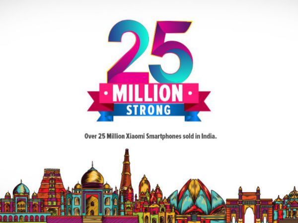 Xiaomi sells 25 million smartphones in India in 3 years