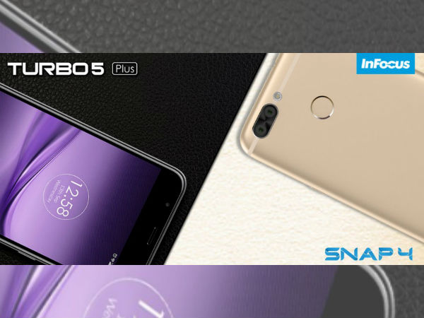 InFocus Turbo 5 Plus and Snap 4 to be launched on September 13