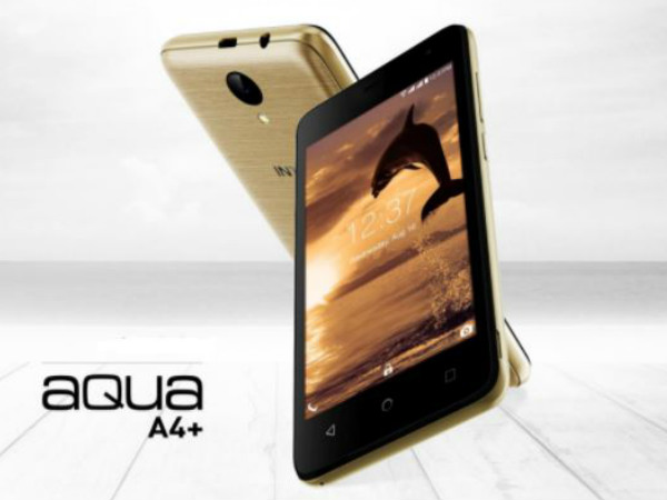 Intex launches Aqua A4+ at Rs. 3,999: Features and Specifications