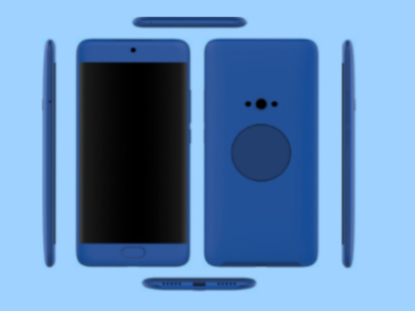 Alleged Meizu X2 renders show a circular secondary display at the rear