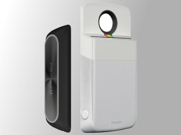 Amazon Alexa and Polaroid Insta-Share Printer Moto Mods renders leak