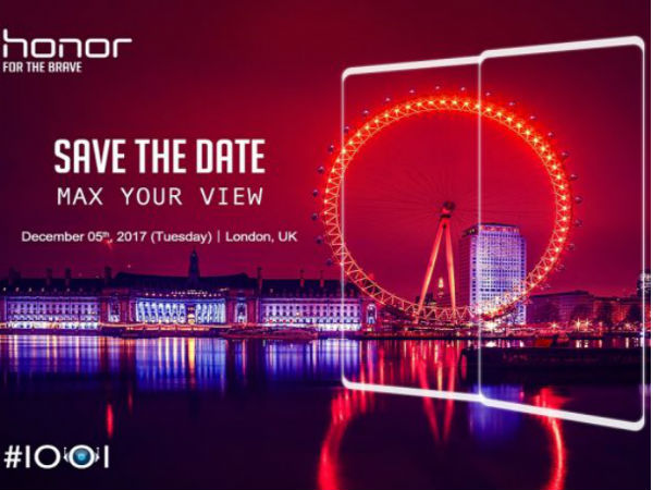Honor to unveil a bezel-less smartphone with dual cameras on December 5