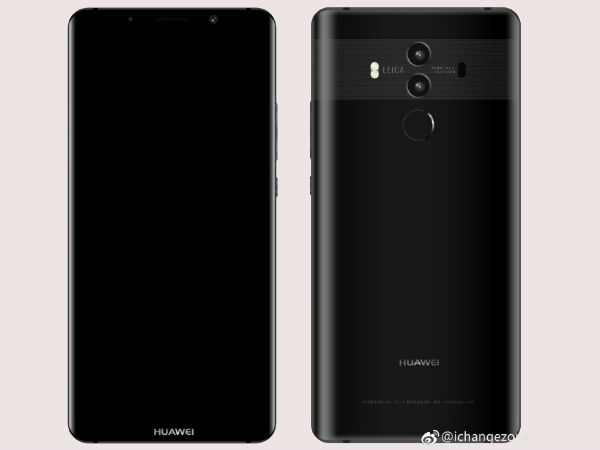 Huawei Mate 10 specs and images leaked again on Weibo