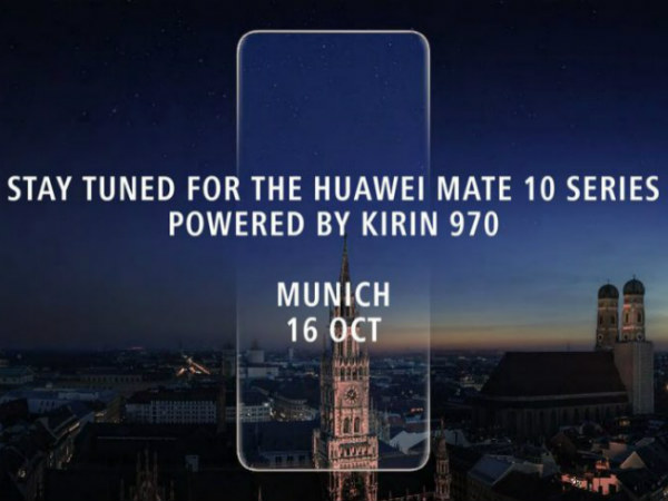 Here's how the front of the Huawei Mate 10 looks like