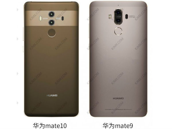 Huawei Mate 10's rear panel doesn't look much different than Mate 9