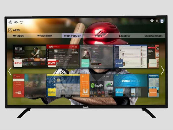 Kodak 55-inch 4K UHD Smart TV launched at a budget friendly price in India