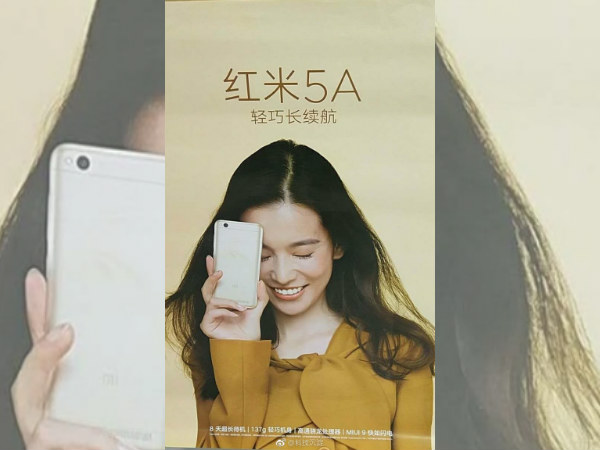 Leaked Xiaomi Redmi 5A poster points out at 8 days of battery life