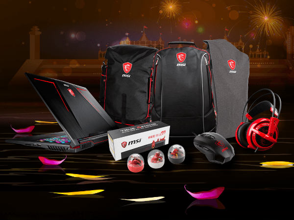 MSI is now offering assured free gifts on its range of gaming laptops