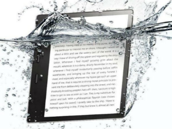 new amazon kindle oasis with waterproof build announced