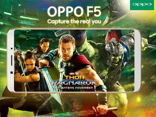 Oppo partners with Marvel for the launch of Oppo F5 in India
