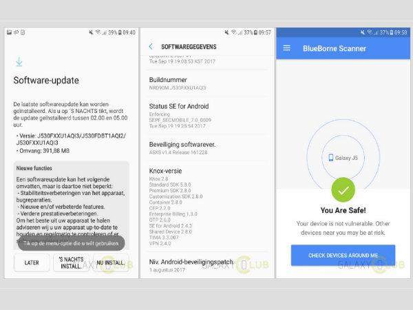 Samsung Galaxy J5 (2017) new update brings Blueborne fix