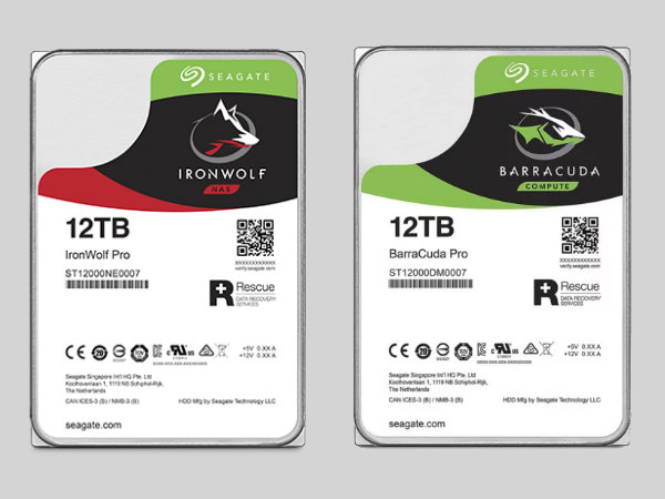 Seagate announces 12TB BarraCuda Pro, IronWolf and IronWolf Pro HDDs""