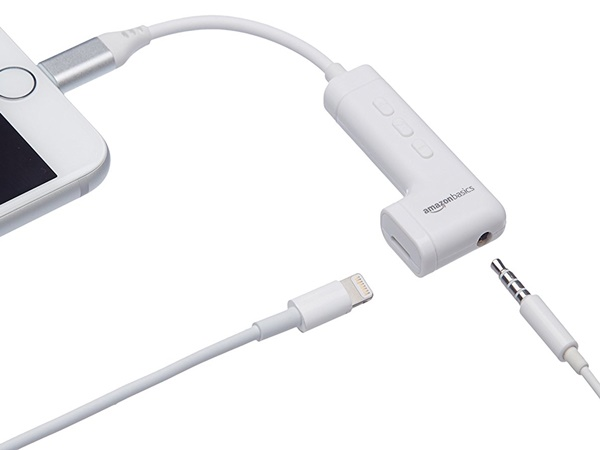 Amazon Basics' lightning to 3.5mm jack is the best adapter for iPhone