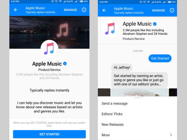 Now you can stream music inside Facebook Messenger