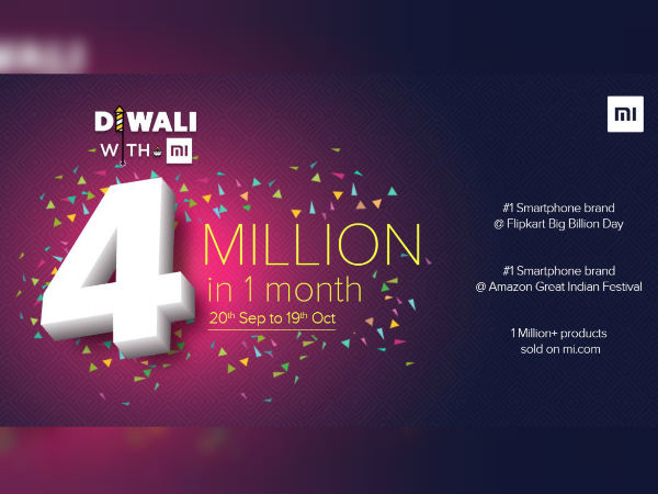 Xiaomi has sold over 4 million smartphones in India during Diwali sale
