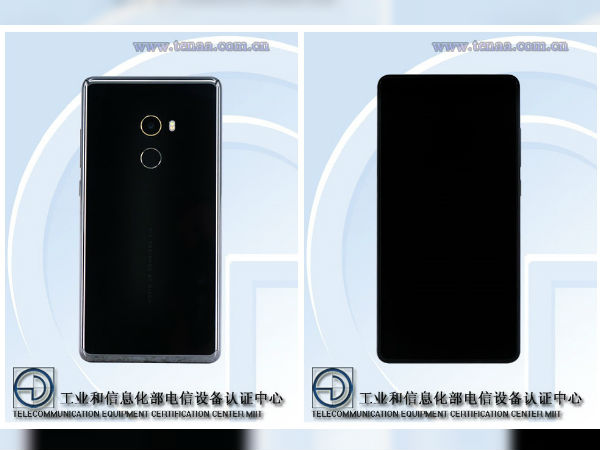 Xiaomi Mi Mix 2 Black Ceramic variant visits TENAA showing off its stunning design