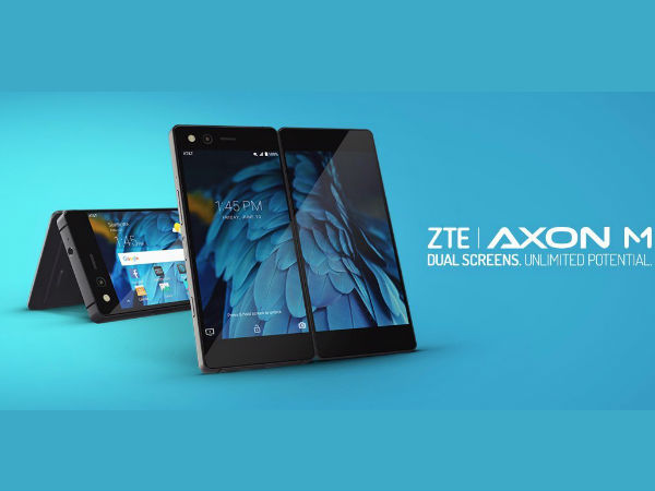 ZTE Axon M dual-screen foldable smartphone launched