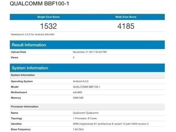 Alleged BlackBerry KEYone successor gets listed on GeekBench