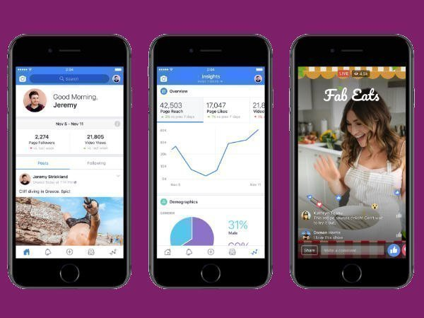 Facebook launches new video creation and streaming tools