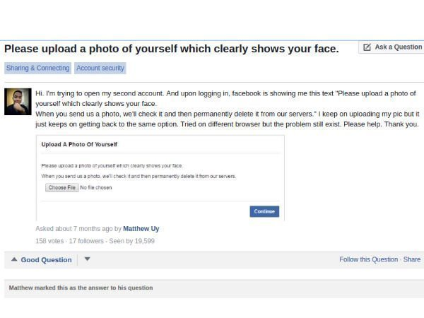 Facebook may soon ask you to upload your photo for security