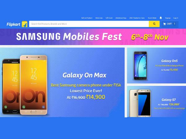 Flipkart announces Samsung Mobiles Fest: Attractive discounts to avail