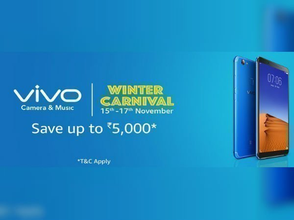 Get attractive offers on Vivo phones on Amazon's Winter Carnival sale
