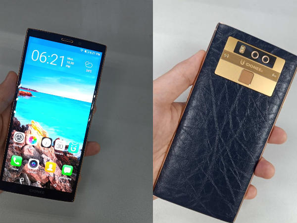 Gionee M7 Plus hands-on images leaked online: Looks premium & stylish
